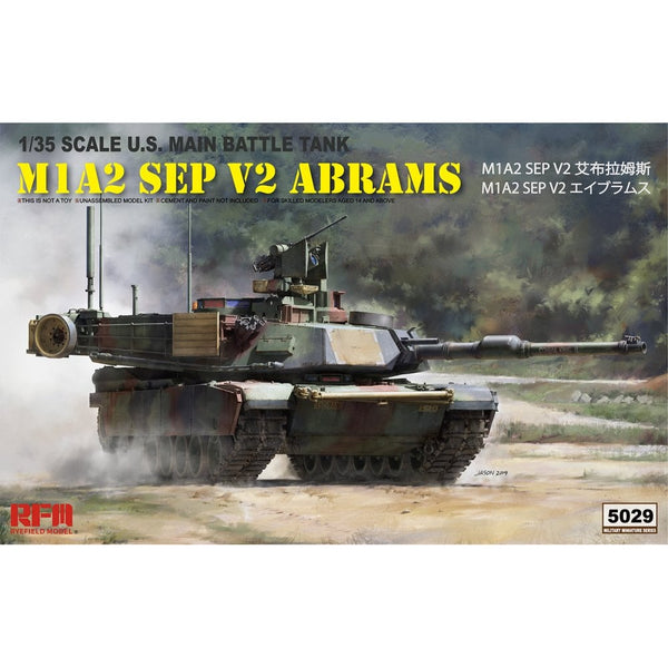 Rye Field 1:35 5029 M1A2 SEP V2 Abrams Model Military Kit