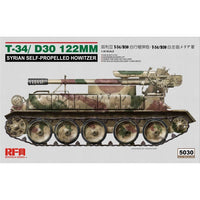 Rye Field 1:35 5030 T-34/D-30 122Mm Syrian Self-Propelled Howitzer Model Military Kit