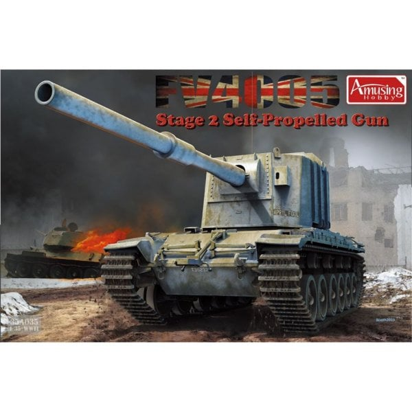 Amusing Hobby 1:35 35a029 FV4005 Stage 2 Self Propelled Gun Tank Model Military Kit