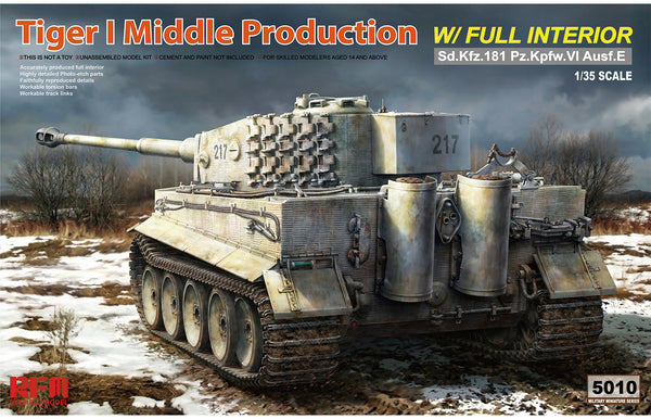 Rye Field 1:35 5010 TIGER I MIDDLE PRODUCTION Model Military Kit