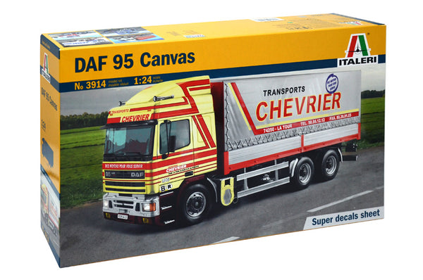 Italeri 1:24 3914 Daf 95 Canvas Model Truck Kit