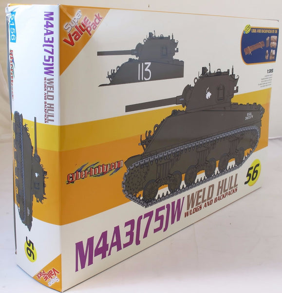 Dragon 1:35 9156 M4A3 (75) with Welded Hull Model Military Kit