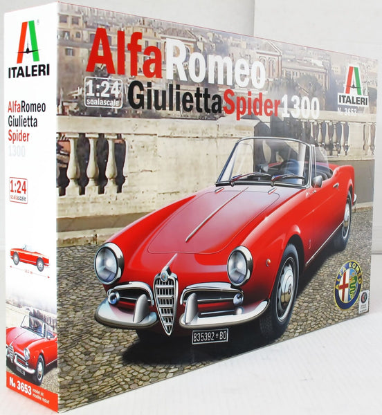 Italeri 1:24 3653 Giulietta Sprider 1600 Model Car kit