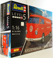 Revell 1:16 07049 VW T1 Kastenwagen Panel Van Porsche Race Service Model Car Kit