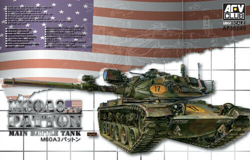 AFV Club 1:35 35249 M60A3 Patton Tank Model Military Kit