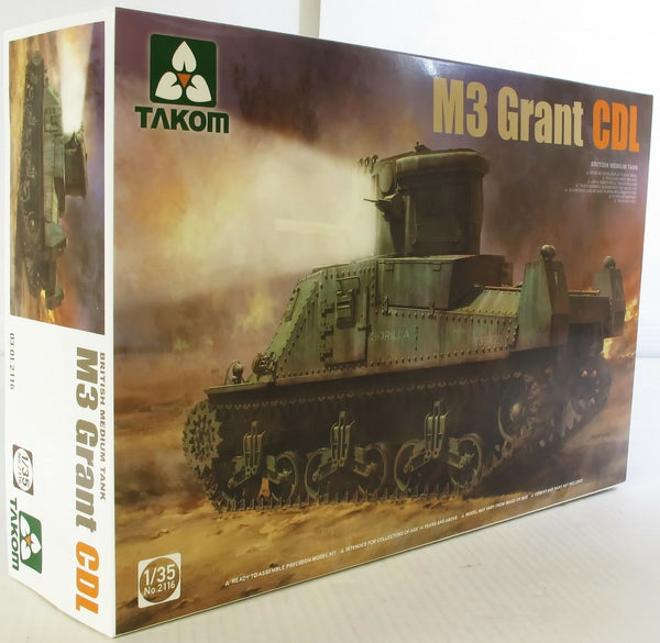 Takom 1:35 02116 M3 Grant CDL British Medium Tank Model Military Kit