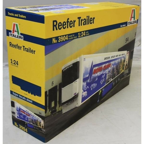 Italeri 3904 1:24 Reefer Trailer Model Truck Kit