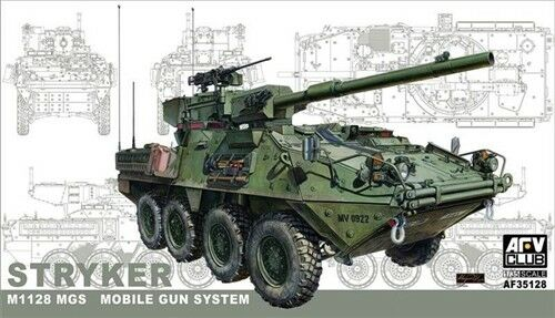 AFV Club 1:35 35128 M1128 Stryker MGS Mobile Gun System Military Model Kit