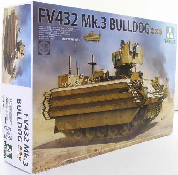 Takom 1:35 02067 British APC FV432 Mk 3 Bulldog 2 in 1 Model Military Kit