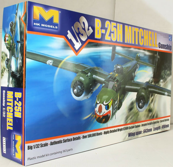 HK Models 1:32 01E03 B-25H Mitchell 'Gun Ship' Model Aircraft Kit