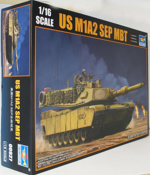 Trumpeter 1:16 00927 M1A2 US SEP MBT Military Model Kit