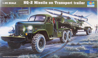 Trumpeter 1:35 00205 HQ-2 Missile on Truck & Trailer Model Military Kit