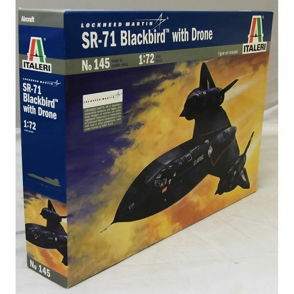 Italeri 1:72 145 SR-71 Blackbird with drone Model Aircraft Kit