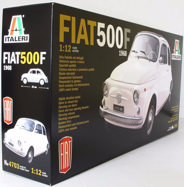 Italeri 1:12 4703 Fiat 500F 1968 Classic Model Car Kit