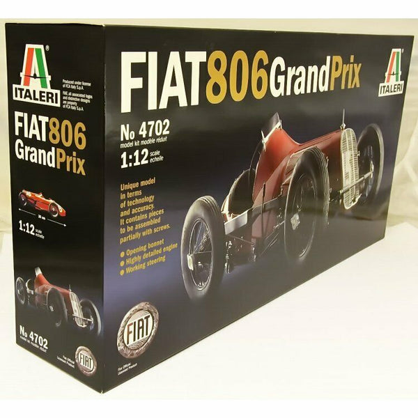 Italeri 1:12 4702 Fiat 806 Corsa Grand Prix Classic Model Car Kit