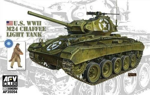 AFV Club 1:35 35054 M24 Chaffee Light Tank US Army with bonus Military Model Kit