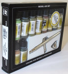 Vallejo 71168 Model Air Set - Ultra Airbrush + 10 Camo Colours Acrilic Paint Set