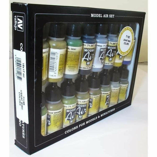 Vallejo 71185 Model Air Set - USAAF Aircraft 16 Colour Acrilic Paint Set