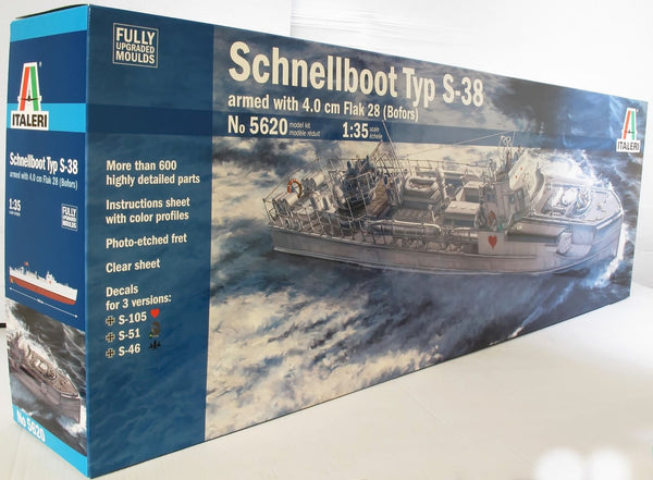Italeri 1:35 5620 SCHNELLBOOT TYP S-38 Premier Edition Model Ship Kit