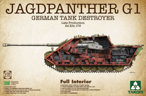 Takom 1:35 02106 Jagdpanther G1 Late Production SdKfz 173 Model Military Kit
