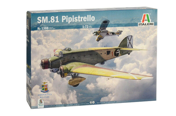 Italeri 1:72 1388 SM81 'Pipistrello' Model Aircraft Kit