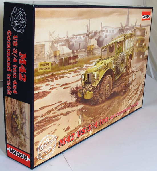 Roden 1:35 809 Dodge M42 ¾ton 4x4 Command Truck Model Military Kit