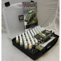 Vallejo 70174 Model Colour Panzer Aces Range 72 colours + carry case