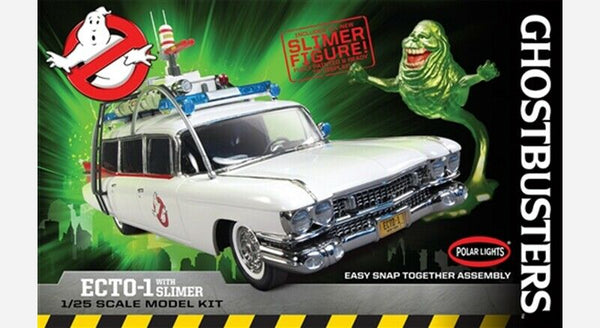 Polar Lights 1:25 POL958 Ghostbusters ECTO-1 w/Slimer Figure - SNAP Model Kit
