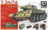 AFV Club 1:35 35143 T-34/76 1942 Factory 112 Model Military Kit