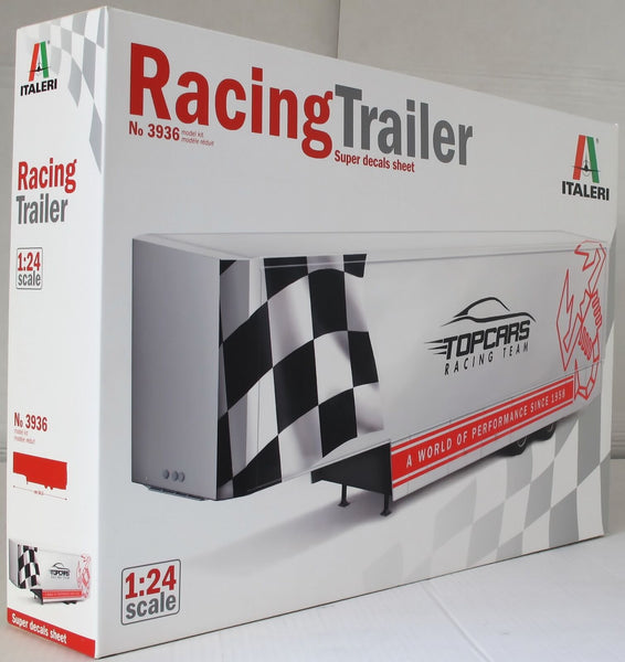 Italeri 1:24 3936 Topcars Racing Trailer Model Truck Kit