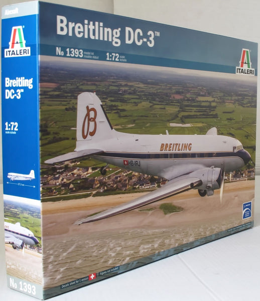 Italeri 1:72 1393 Breitling DC-3 Model Aircraft Kit