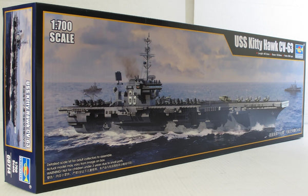 Trumpeter 1:700 06714 USS Kitty Hawk CV-63 Model Ship Kit - Damaged Box
