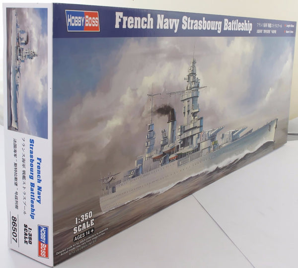 Hobbyboss 1:350 86507 French Navy Battleship Strasbourg Model Ship Kit