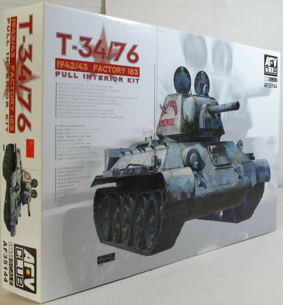 AFV Club 1:35 35144 T-34/76 Mod 1942/43 Factory 183 Full Int. Model Military Kit