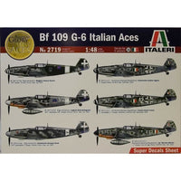 Italeri 1:48 2719 BF-109 G-6 ITALIAN ACES WITH 6 DECAL SETS Model Aircraft Kit
