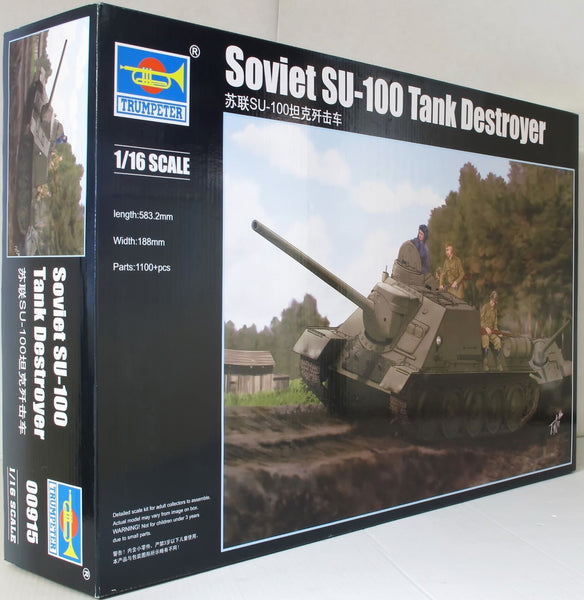 Trumpeter 1:16 00915 Su-100 Soviet Tank Destroyer Military Model Kit