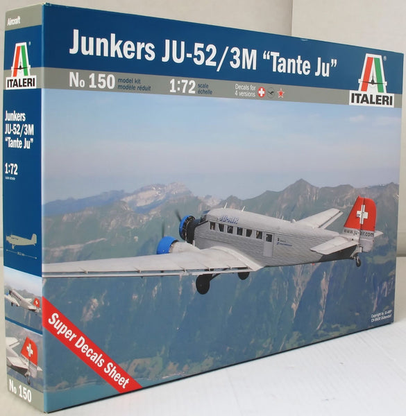 Italeri 1:72 150 Junkers Ju-52 / 3M ''Tante Ju'' Model Aircraft Kit