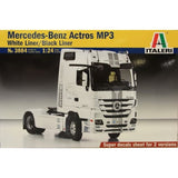 Italeri 1:24 3884 Mercedes-Benz Actros MP3 Whiteliner/Blackliner Model Truck Kit