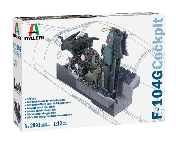 Italeri 1:12 2991 F-104 G Cockpit Model Aircraft Kit