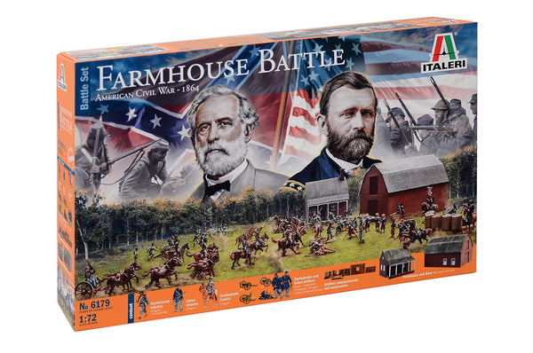 Italeri 1:72 6179 Farmhouse Battle Set - American Civil War 1864 Military Model