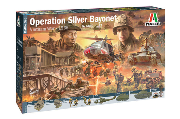 Italeri 1:72 6184 Operation Silver Bayonet - Vietnam War 1965 Battle Set kit