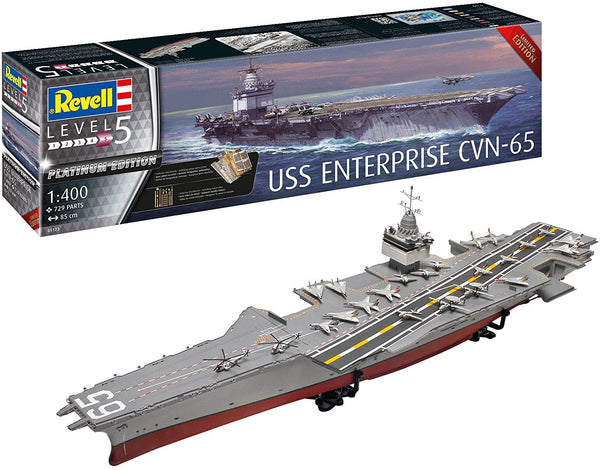 Revell 1:400 05173 USS Enterprise CVN-65 Platinum Edition Model Ship Kit