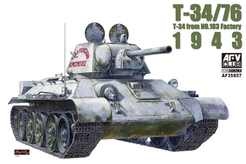 AFV Club 1:35 35S57 T-34/76 1943 Model Military Kit