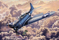 "Academy 1:48 12335 SBD-2 Dauntless ""Midway"" US Navy Model Aircraft Kit"
