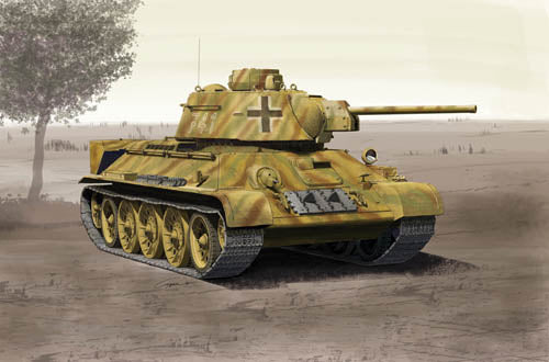 Academy 1:35 13502 German T-34/76 (747r) Model Military Kit