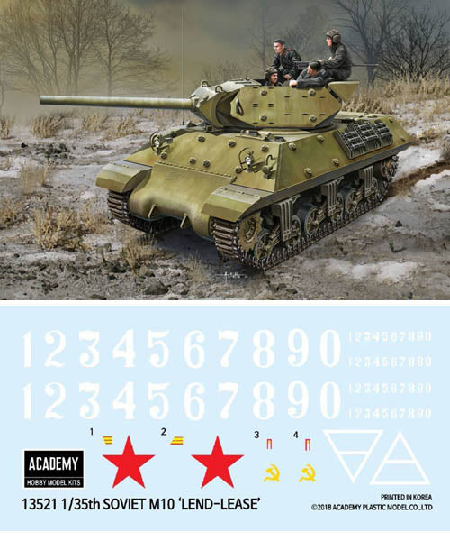 Academy 1:35 13521 USSR M10 Lend-Lease Model Military Kit