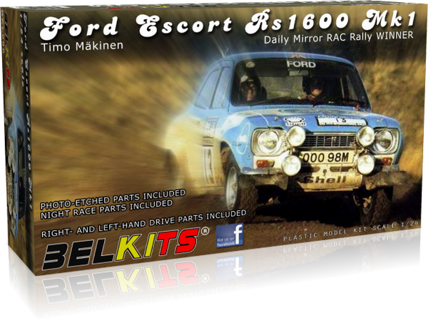 Belkits 1:24 006 Ford Escort RS1600 MKI Timo Mäkinen #13 Model Car kit