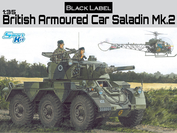 Dragon 1:35 3554 British Armored Car Saladin Mk.2 Model Military Smart Kit