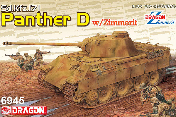 Dragon 1:35 6945 Sd.Kfz.171 Panther Ausf.D w/Zimmerit (2 in 1) Model Military Kit
