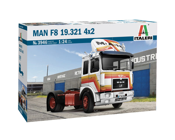 Italeri 1:24 3946 Man F8 19.321 4x2 Model Truck Kit
